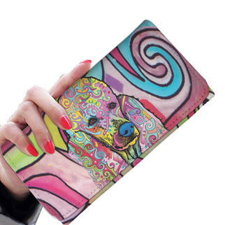Poodle Design Womens Wallet - Dean Russo Art