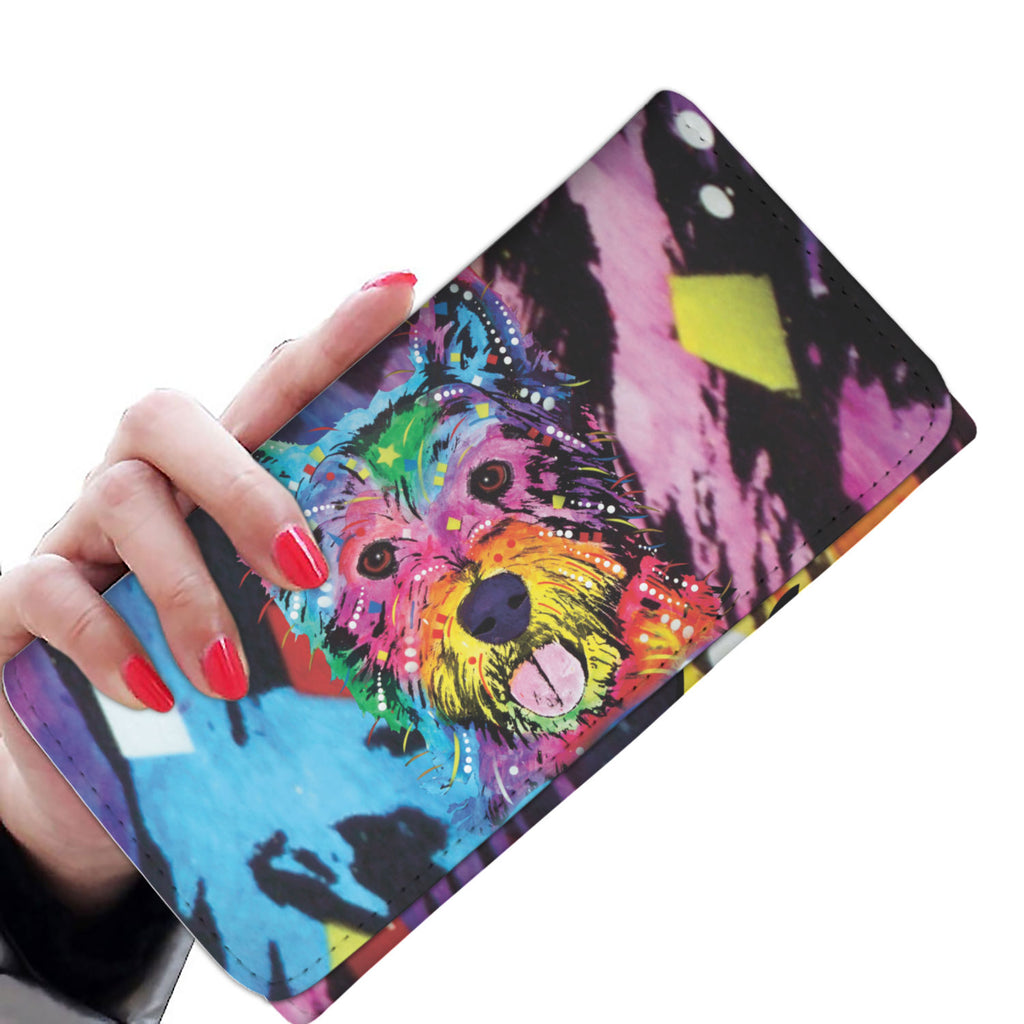 Westie Design Womens Wallet - Dean Russo Art