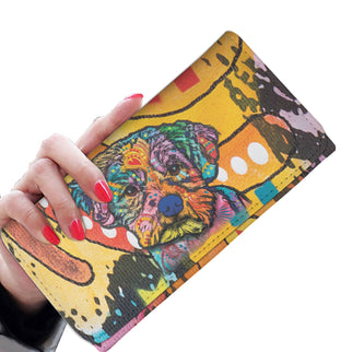 Maltese Design Womens Wallet - Dean Russo Art