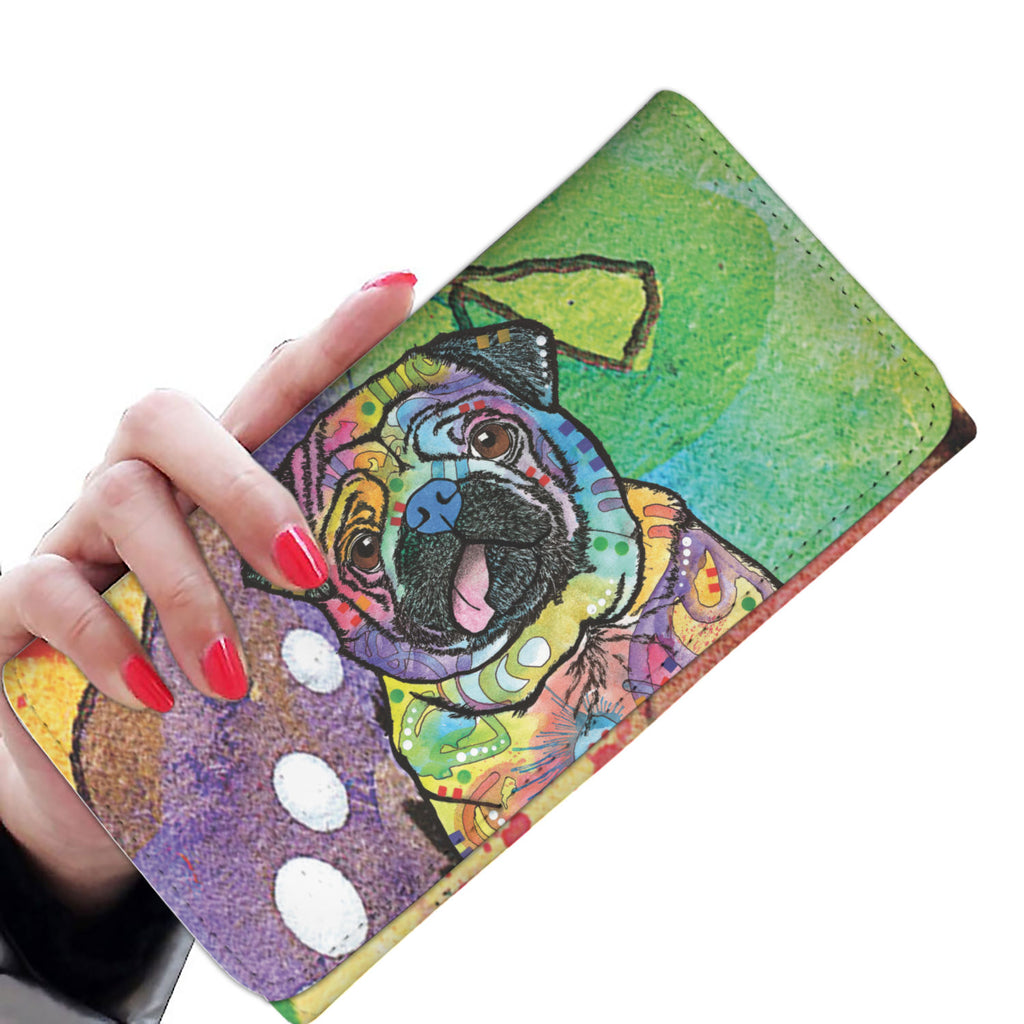 Pug Design Womens Wallet - Dean Russo Art