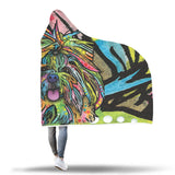 Shih Tzu Design Hooded Blanket - Dean Russo Art