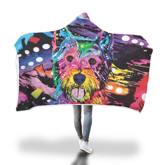 Westie Design Hooded Blanket - Dean Russo Art