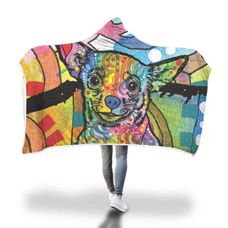 Chihuahua Design Hooded Blanket - Dean Russo Art - Jill 'n Jacks