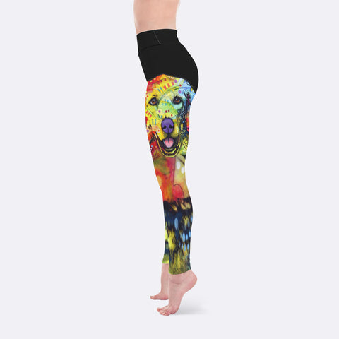 840b367a1445a Golden Retriever Leggings - Dean Russo Art – Jill 'n Jacks