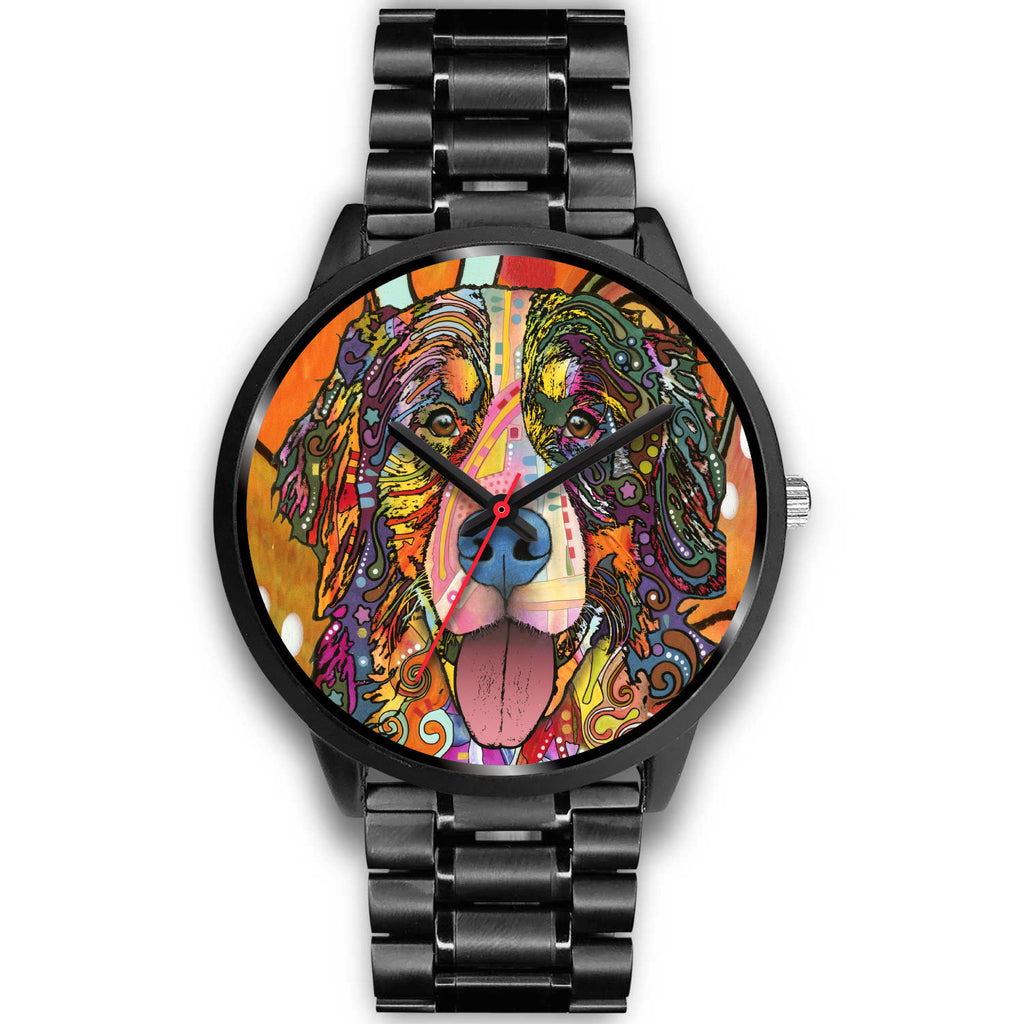 Bernese Mountain Black Watch Design - Dean Russo Art