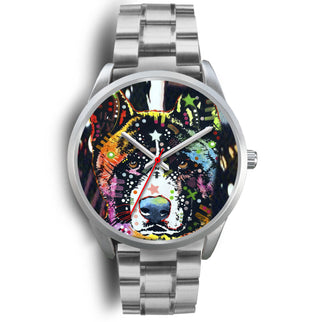 Akita Silver Watch Design - Dean Russo Art - Jill 'n Jacks