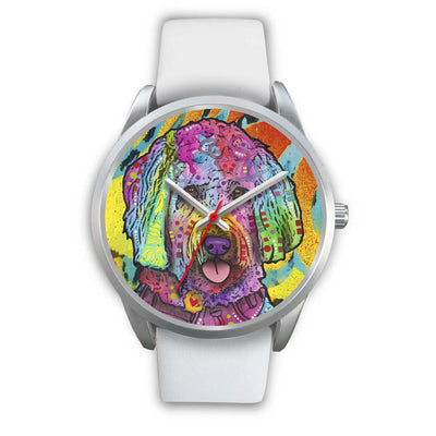 Goldendoodle Silver Watch Design - Dean Russo Art - Jill 'n Jacks