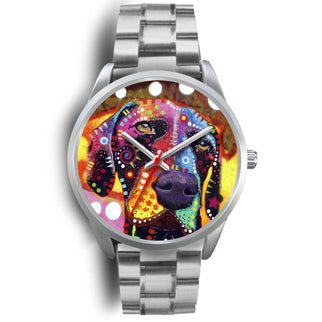 German Shorthaired Pointer Silver Watch Design - Dean Russo Art - Jill 'n Jacks
