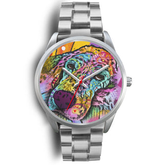 Irish Setter Series Silver Watch Design - Dean Russo Art