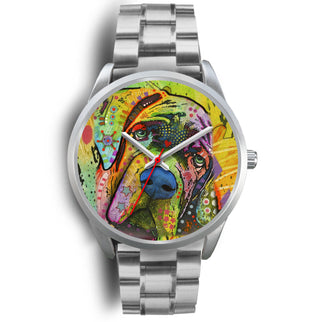 Mastiff Silver Watch Design - Dean Russo Art