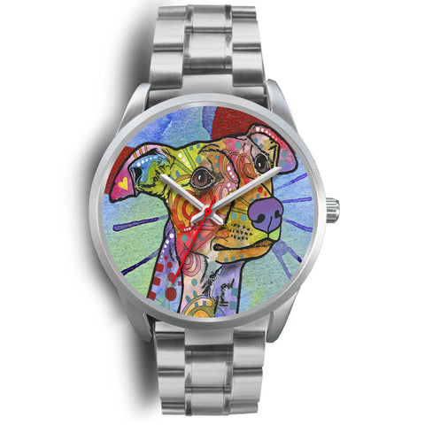 Whippet Silver Watch Design - Dean Russo Art