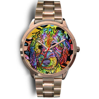 Labradoodle Rose Gold Watch Design - Dean Russo Art - Jill 'n Jacks
