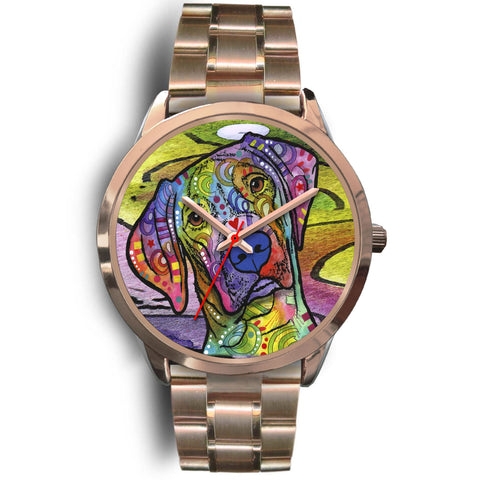 Vizsla Rose Gold Watch Design - Dean Russo Art