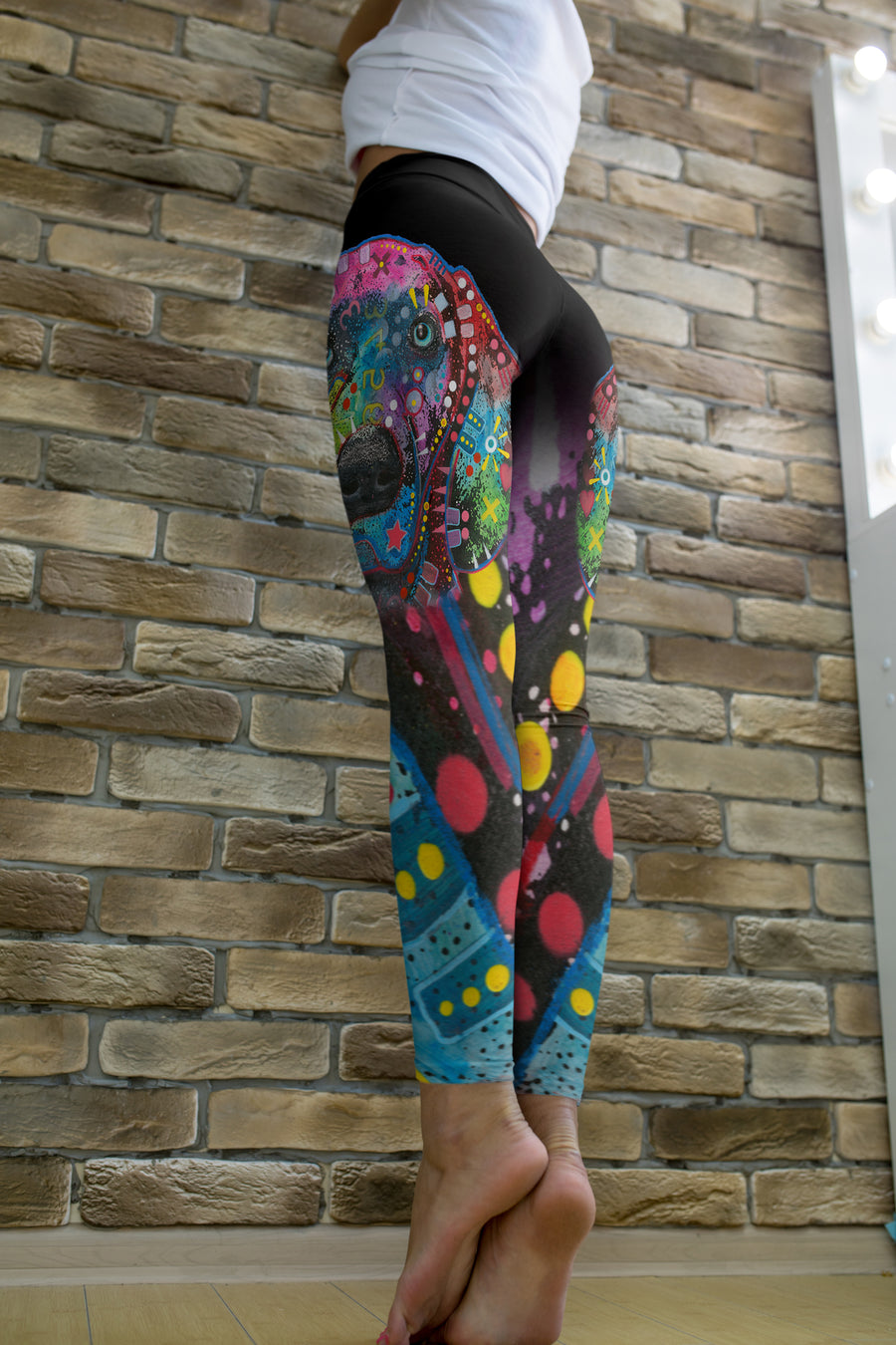 Weimaraner Leggings - Dean Russo Art