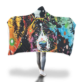 Akita Design Hooded Blanket - Dean Russo Art - Jill 'n Jacks