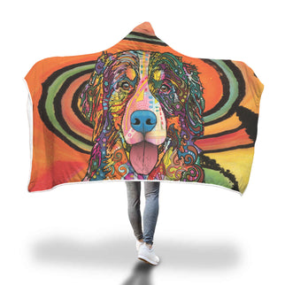 Bernese Mountain Design Hooded Blanket - Dean Russo Art - Jill 'n Jacks