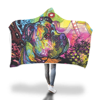 Boxer Design Hooded Blanket - Dean Russo Art - Jill 'n Jacks