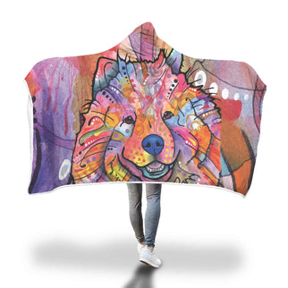 Chow Chow Design Hooded Blanket - Dean Russo Art - Jill 'n Jacks