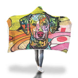 Dalmatian Design Hooded Blanket - Dean Russo Art - Jill 'n Jacks