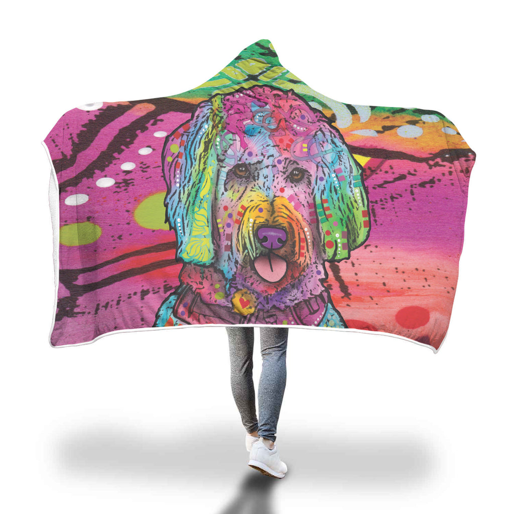 Goldendoodle Design Hooded Blanket - Dean Russo Art - Jill 'n Jacks