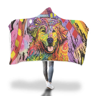 Great Pyrenees Design Hooded Blanket - Dean Russo Art