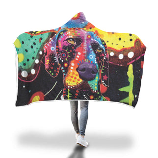 German Shorthaired Pointer Design Hooded Blanket - Dean Russo Art - Jill 'n Jacks