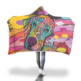 Irish Setter Design Hooded Blanket - Dean Russo Art