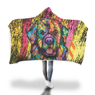 Newfie Design Hooded Blanket - Dean Russo Art