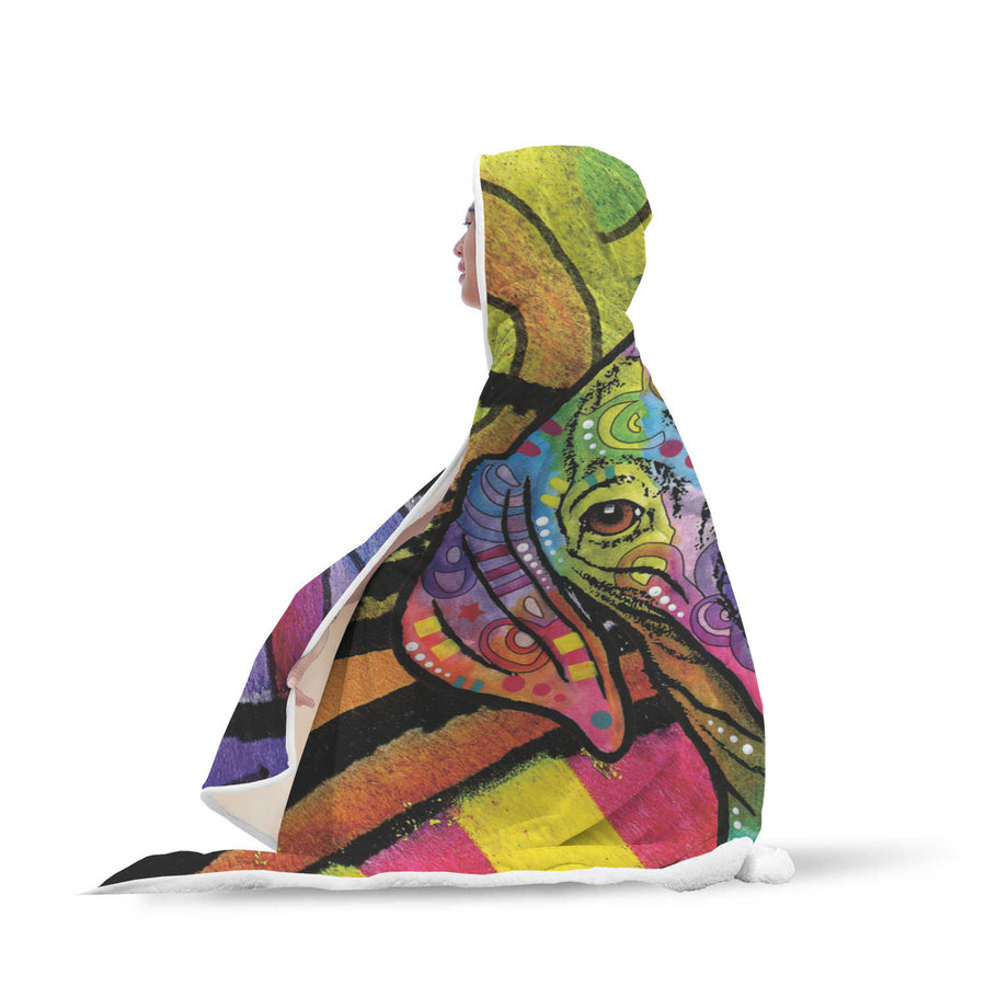 Vizsla Design Hooded Blanket - Dean Russo Art - Jill 'n Jacks