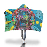 Weimaraner Design Hooded Blanket - Dean Russo Art