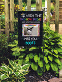 Wish Rainbow Bridge Had Visiting Hours...Personalized Garden Flags - Jill 'n Jacks