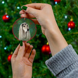 Afghan Hound Design Ceramic Christmas Ornaments - JillnJacks Exclusive - Jill 'n Jacks