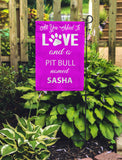 All You Need Is Love & A Dog Breed Name...Personalized Garden Flags