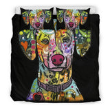 Dalmatian Bedding Set - Duvet / Comforter Cover and Two Pillow Covers - Black Back - Dean Russo Art - Jill 'n Jacks