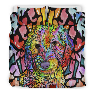 Labradoodle Bedding Set - Duvet / Comforter Cover and Two Pillow Covers - Printed Back - Dean Russo Art - Jill 'n Jacks