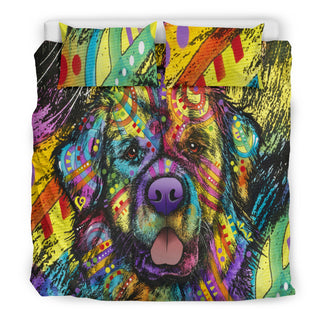 Newfie Bedding Set - Duvet / Comforter Cover and Two Pillow Covers - Printed Back - Dean Russo Art