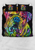 Bulldog Bedding Set - Duvet Cover and Two Pillow Cases - Dean Russo Art - Jill 'n Jacks
