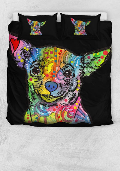 Chihuahua Bedding Set - Duvet / Comforter Cover and Two Pillow Covers - Dean Russo Art - Jill 'n Jacks
