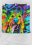 German Shepherd Bedding Set - Duvet Cover With Two Pillowcases - Dean Russo Art