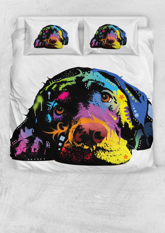 Labrador Bedding Set - Duvet / Comforter Cover and Two Pillow Covers - Dean Russo Art