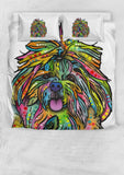 Shih Tzu Bedding Set - Duvet Cover and Two Pillowcases - Dean Russo Art