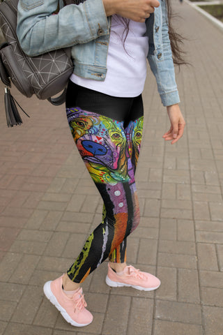 Vizsla Yoga Leggings Design - Dean Russo Art