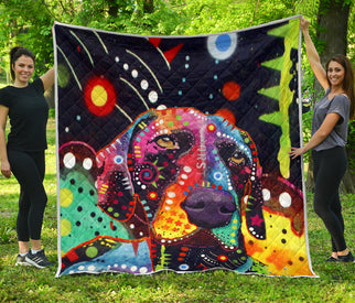 German Shorthaired Pointer Premium Quilt - Dean Russo Art - Jill 'n Jacks