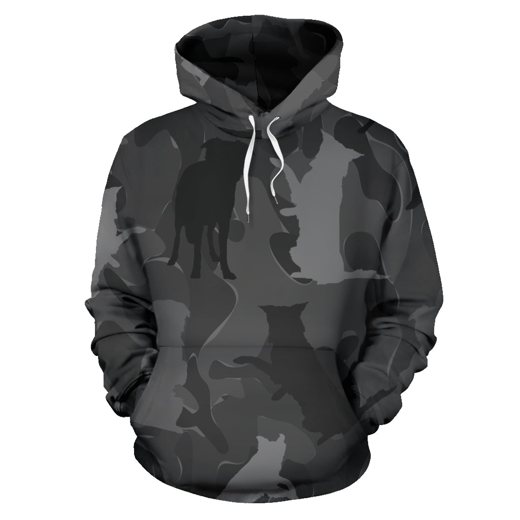 Border Collie Dark Grey All Over Print Camouflage Hoodie - JillnJacks Exclusive - Jill 'n Jacks