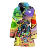 Pug Design Women's Bath Robe - Dean Russo Art - Jill 'n Jacks