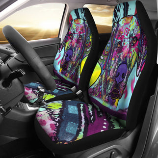Rhodesian Ridgeback Design Car Seat Covers Colorful Back- Dean Russo Art - Jill 'n Jacks