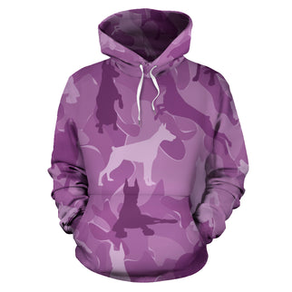 Doberman Pink All Over Print Camouflage Hoodie - JillnJacks Exclusive - Jill 'n Jacks