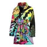 Airedale Terrier Design Women's Bath Robe - Dean Russo Art
