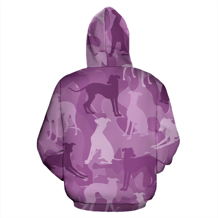 Greyhound Pink All Over Print Camouflage Hoodie - JillnJacks Exclusive - Jill 'n Jacks