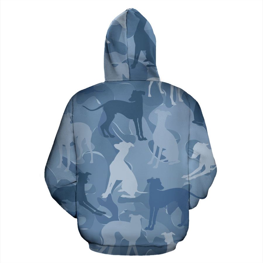 Greyhound Light Blue All Over Print Camouflage Hoodie - JillnJacks Exclusive - Jill 'n Jacks